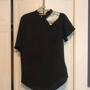 Express Blouse with one shoulder cut out